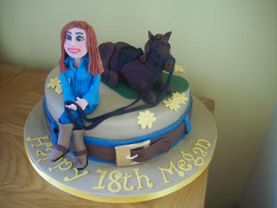 Lady and Horse Cake