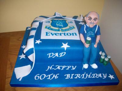 Everton Football Fan Cake