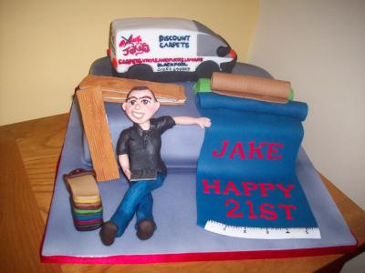 Carpet Shop Manager Cake