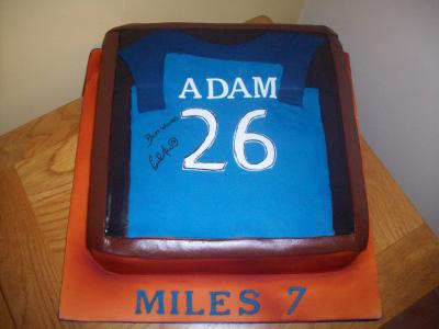 Football Shirt Birthday Cake