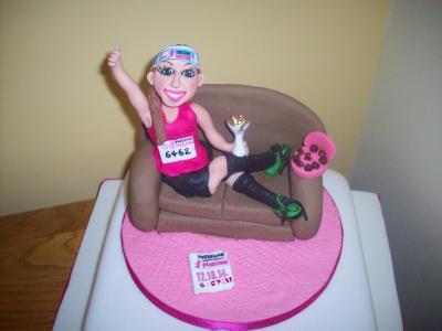Marathon Lady Cake Topper