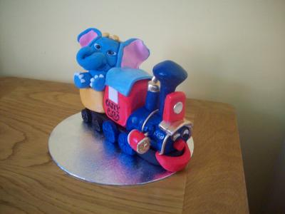 Train and Dumbo Cake Topper