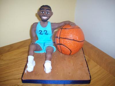 Basketball Player Cake Topper