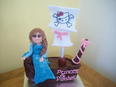 Princess and Pirates Cake Topper