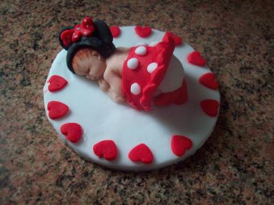 Ladybird Baby Cake Topper