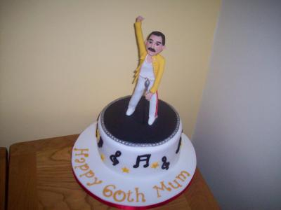 Freddie Mercury Music Cake