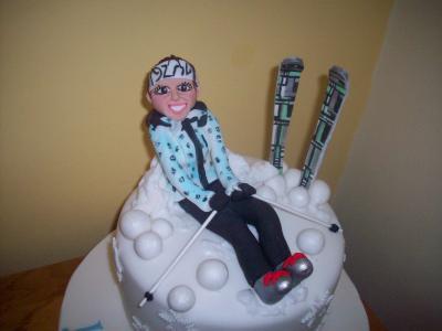 Lady Ski Cake