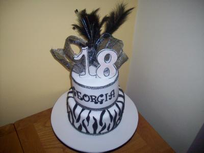 18th Feather Bow Birthday Cake