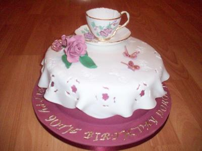 Sugar handmade Teacup Cake
