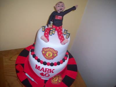 Manchester United 2 Tier Football Cake