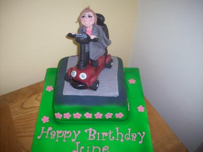 Lady Mobility Scooter Cake