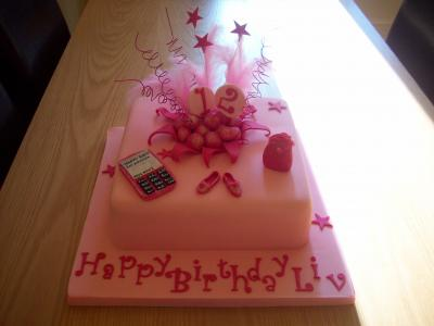 Pink Mobile phone Explosion Birthday Cake
