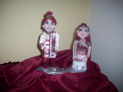 Indian Asian Bride and Groom Wedding Cake Topper
