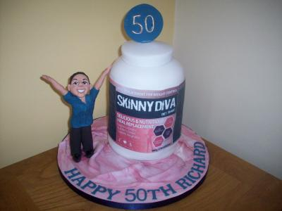50th Birthday Cake for the Inventor of Skinny Diva