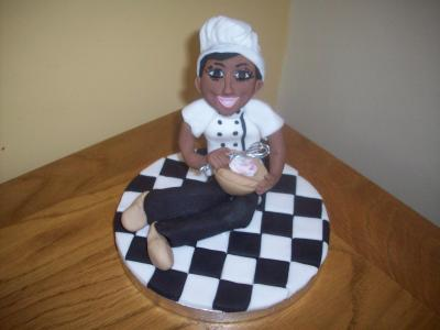 Lady Chef Cake Topper