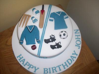 Football and Cricket Cake