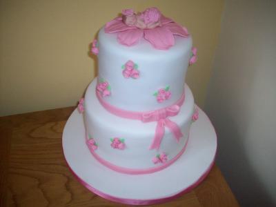 Roses Baby Shower Cake