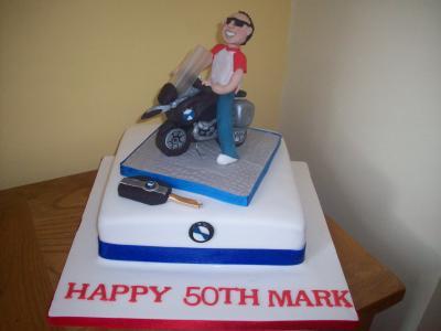 BMW Motorbike Cake