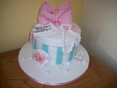 Vintage Bow Rose Cake Box