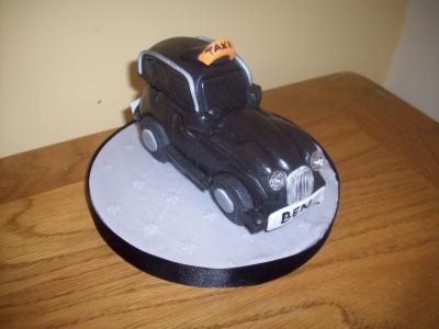 London Taxi Bomber Cake Topper