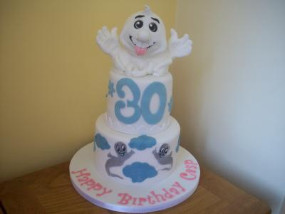 Ghost and Casper 30th Birthday Cake