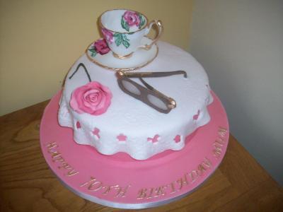 Teacup Rose Cake