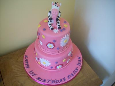 Moo Cow 2 Tiered Baby Cake