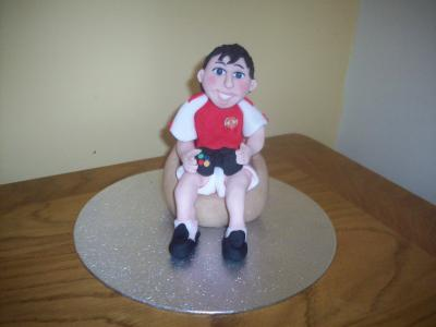 Manchester United Football Fan Cake Topper