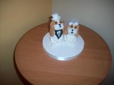 Personalised Dogs Bride and Groom Wedding Cake Topper