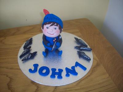 Mike The Knight Cake Topper with Swords