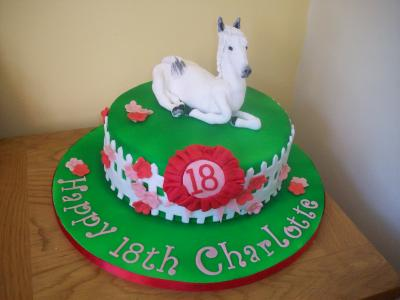 White Horse Birthday Novelty Cake