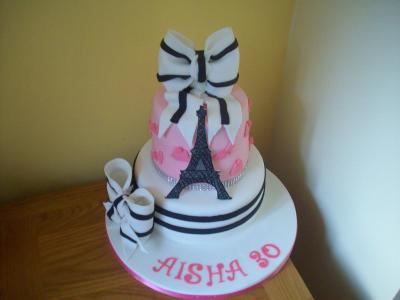 Designer Paris Themed Birthday Cake