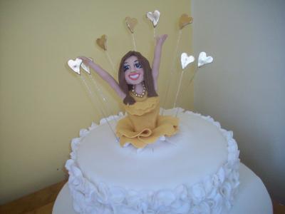 Celebration Lady Explosion Cake Model