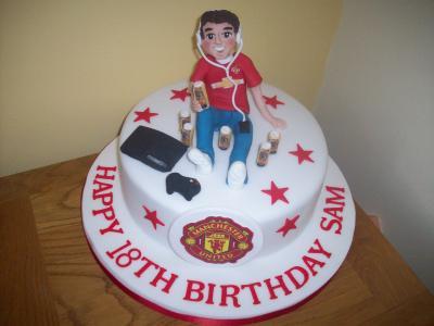 Manchester United Footballer Cake