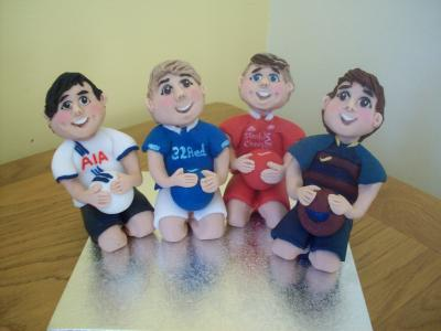 Football Supporters Cake Toppers