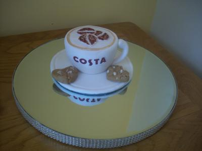 Costa Coffee Cup Cake Topper