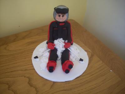 Skier Cake Topper