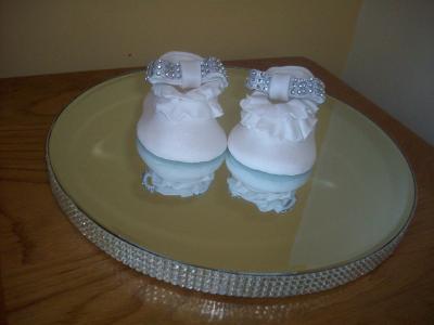 Baby Shoes Diamante Cake Topper