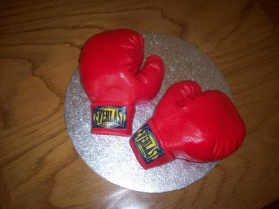 Red Everlast Boxing Gloves Cake Topper