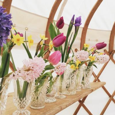 Wedding Yurts Props - Cut Glass Vases