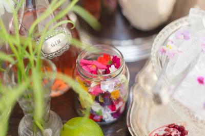 Yurt Bar - Raspberry Gin and Edible Flowers