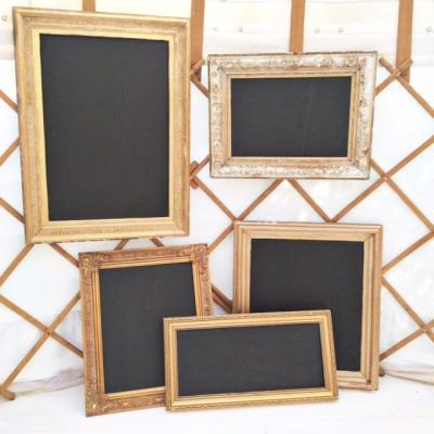 Wedding Yurts Props - Gilt framed chalk boards
