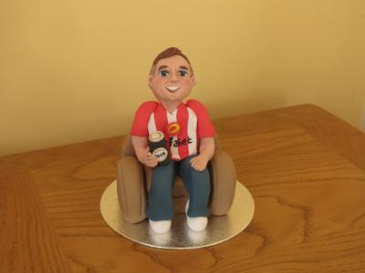 Sunderland Football Supporter Cake Topper