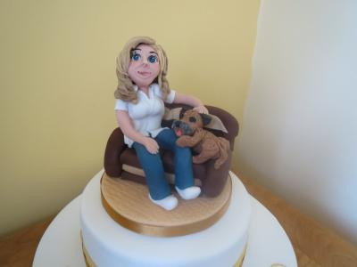 Girl and her Dog Cake Topper
