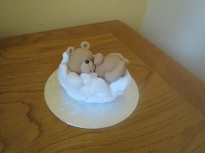 Teddy Bear in the clouds Cake Topper