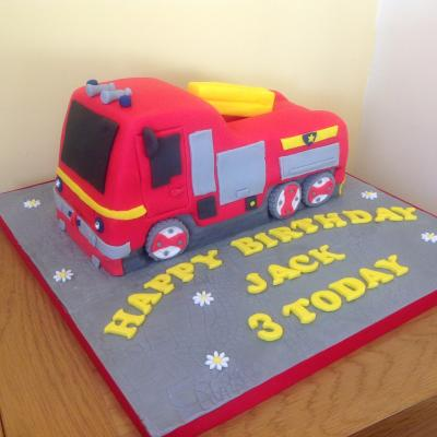 Jupiter Fire Engine Cake