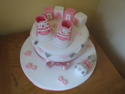 Baby Girl Converse Baby Shower Cake
