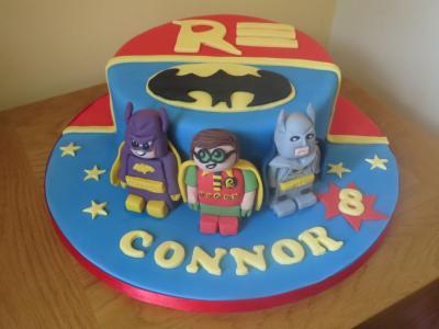 Batman Batgirl Robin Cake