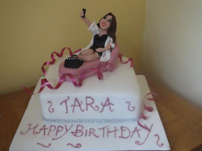 Lady Photo Cake