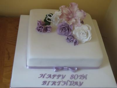 Lilac Freesia Birthday Cake